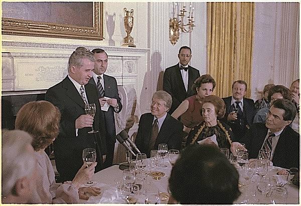 Nicolae Ceaușescu na návštěvě Washingtonu 1978