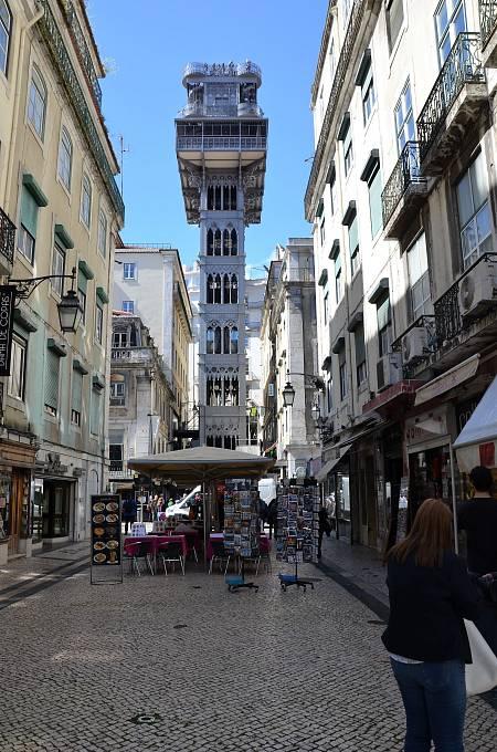 Městský vertikální výtah Elevador de Santa Justa