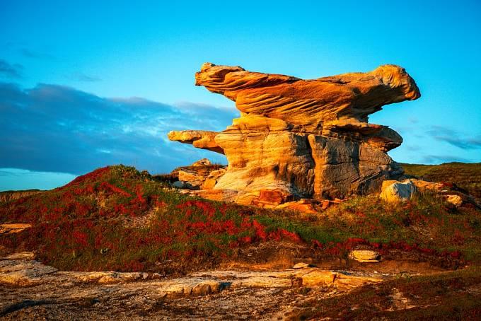 Na poloostrově Kola se vyskytují zvláštní přírodní útvary.