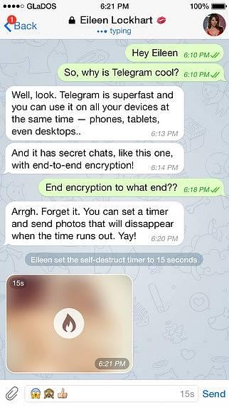 Náhled aplikace Telegram