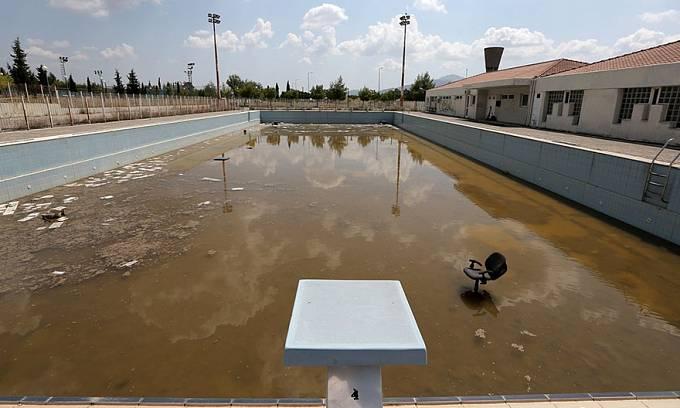 Bazén v olympijské vesničce, Athény 2004