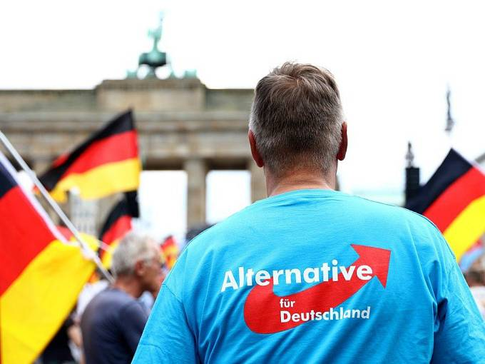Demonstrace AfD v Berlíně