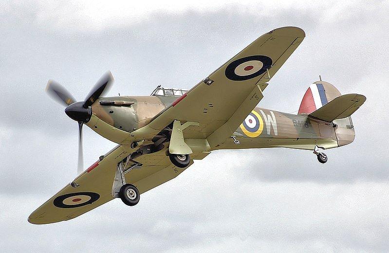 Leopold Šrom létal i na Hawkeru Hurricane