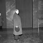 Antonín Zápotocký při pietním aktu