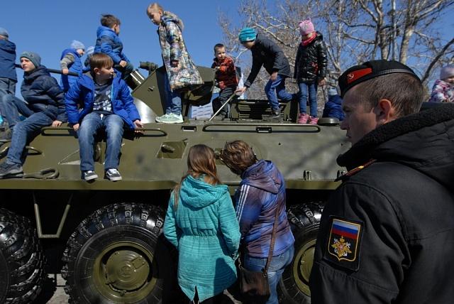 Na Krymu se připojení kRuské federaci každým rokem povinně slaví.