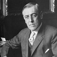 Americký prezident Woodrow Wilson. Vzniklo by samostatné Československo, kdyby Wilsona v prezidentských volbách v letech 1912 a 1916 porazili republikánští kandidáti Taft či Hughes?