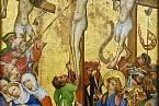 Ukřižování Ježíše, malba z r. 1450