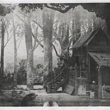 Kotěrova scéna kpředstavení Rusalky vNárodním divadle vPraze (1901)