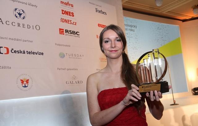Tereza Jurečková jako vítězka kategorie Společensky prospěšný podnikatel roku.