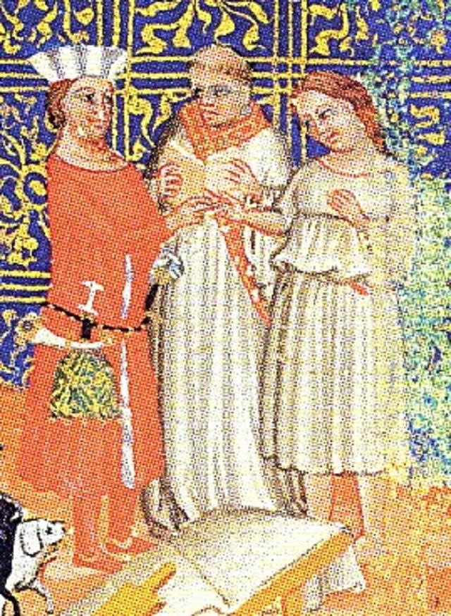 Oldřich a Božena (středověká iluminace)
