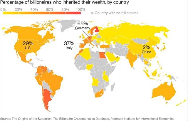 Kde se nejvíce dědí miliardy?