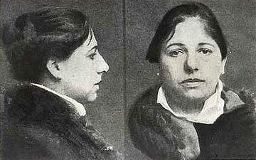 Mata Hari na posledním snímku, pořízeném policií