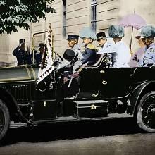Arcivévoda Ferdinand s chotí Žofií v Sarajevu