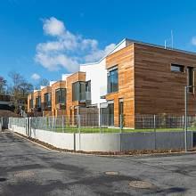 Vhodně orientované budovy, například tato, nabízejí byty v pasivním standardu.