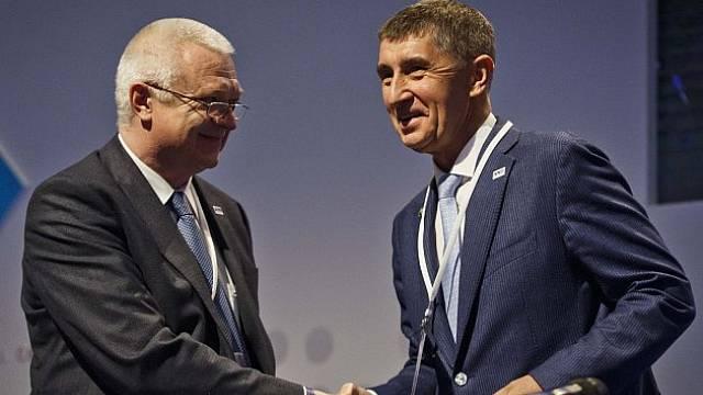 Andrej Babiš a Jaroslav Faltýnek (vlevo), nerozlučná dvojka z ANO a z Agrofertu