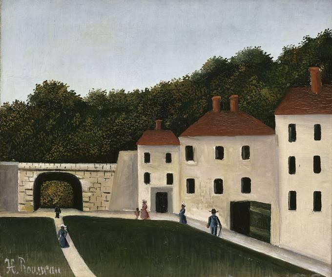 Henri Rousseau, Chodci v parku, 1900–1910, olej na plátně, Paris, Musée de l'Orangerie, © RMN-Grand Palais (Musée de l'Orangerie) / Hervé Lewandowski