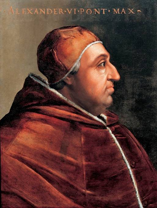 Papež Alexandr VI. byl podezřelý z incestního styku s vlastní dcerou Lukrécií Borgiou