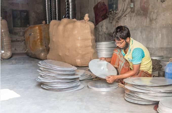 Dílna se stříbrem v Dháce