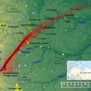 Znázornění Východouralské radiační stopy