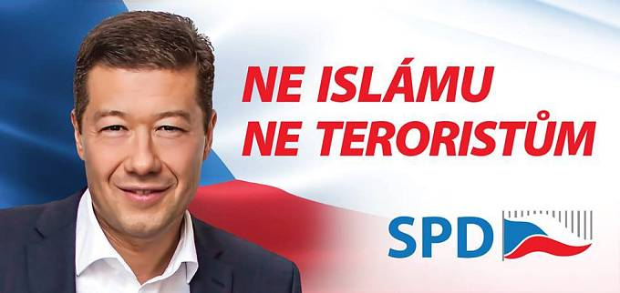 SPD Tomia Okamury vsadila všechno na boj proti islámu
