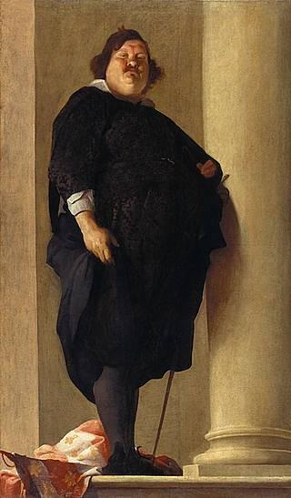 Obézní toskánský generál Alessandro del Borro, 1645
