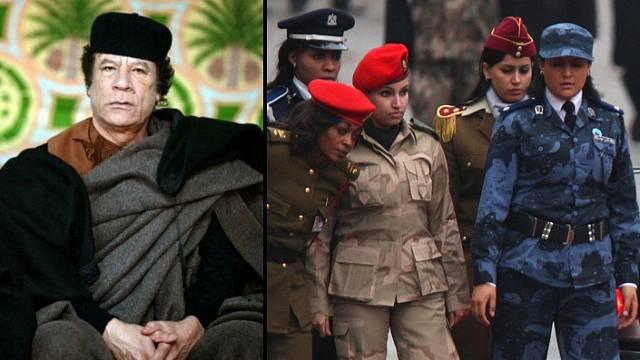 Muammar Kaddáfí a jeho ženská garda