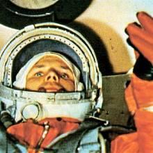 Jurij Gagarin v raketě
