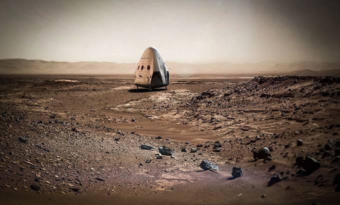 Na plánech osídlení Marsu se podílí také firma Elona Muska SpaceX