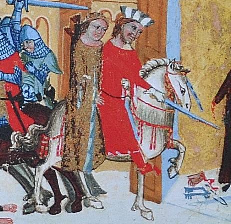 Břetislav I. unáší Jitku z kláštera Babenberků ve Schweinfurtu (vyobrazení z latinského překladu Dalimilovy kroniky)