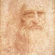 Leonardo da Vinci na slavném autoportrétu