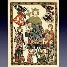 Král Václav II., historická ilustrace z 19. století