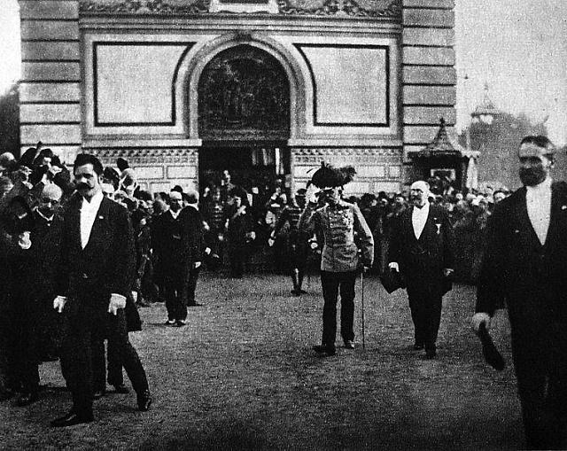 František Josef I. zahájil 15.května 1891Jubilejní všeobecnou výstavu vPraze, nad níž měl patronát