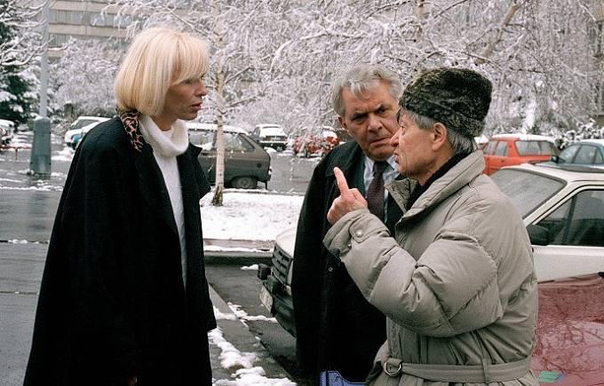 Hana Čížková, Ladislav Trojan a Václav Kotva ve filmu Lakomec
