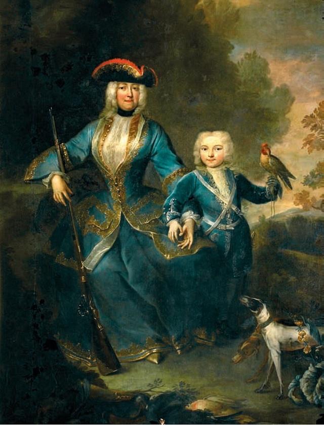 Portrét Eleonory Amálie ze Schwarzenbergu svytouženým synem