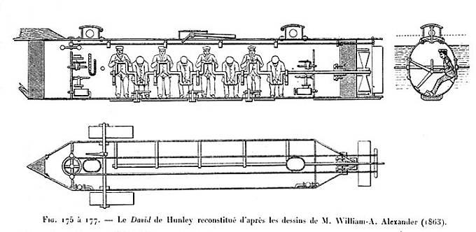 Původní nákresy ponorky