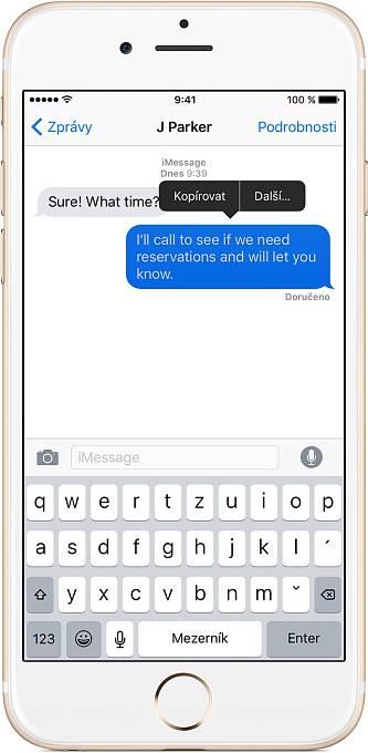 Náhled aplikace iMessage od Applu