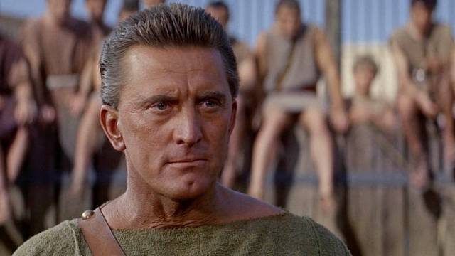 Kirk Douglas jako Spartakus