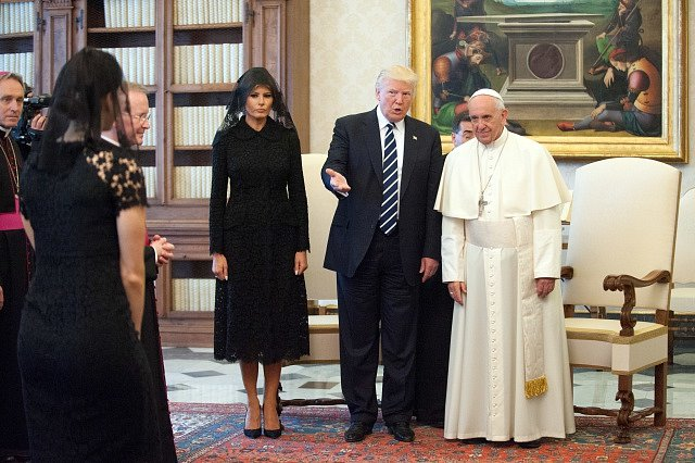 Donald Trump s papežem Františkem ve Vatikánu