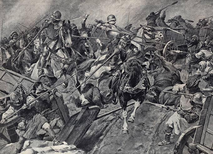 Bitva u Lipan - prolomení vozové hradby