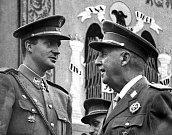 Francisco Franco s budoucím králem Juanem Carlosem I.