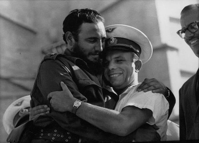 Fidel Castro a Jurij Gagarin