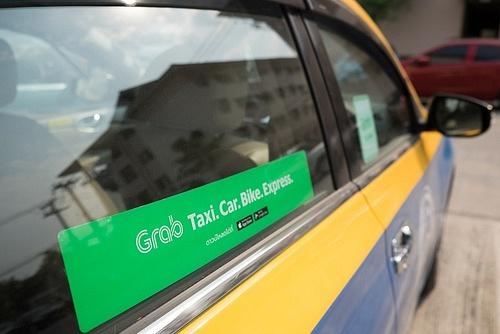 Vůz pod aplikací Grab