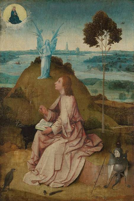 H. Bosch: Sv. Jan na Patmu (asi 1505)