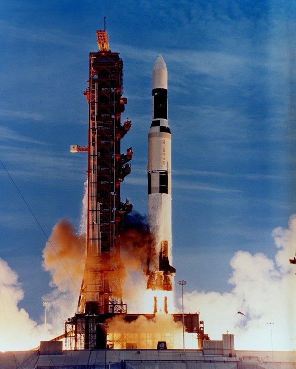 Start nosné rakety Saturn V, která vynesla Skylab na oběžnou dráhu