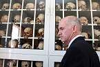 Muzeum v Distomu. Lebky patří obětem.