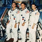 Členové posádky Apolla 7 R. Walter Cunnigham, Walter Schirra, JR., Donn F. Eisele
