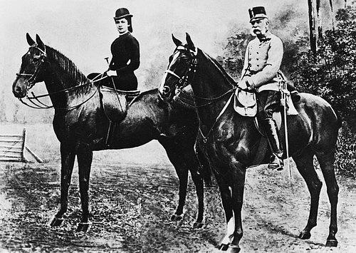 František Josef I. a císařovna Sissi na projížďce