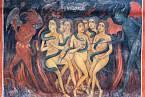 Cizoložnice podle církve končily v pekle (na obrázku výjev z fresky v klášteře v bulharské Rile)