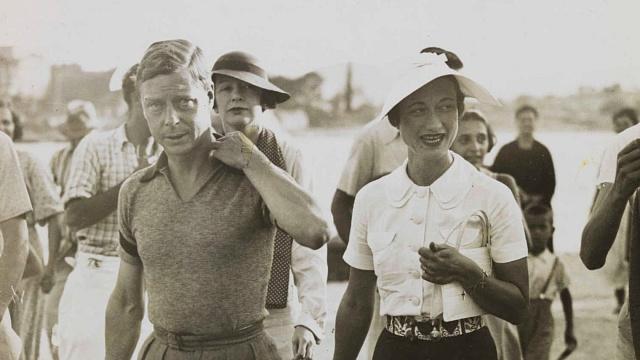 Eduard VIII. sWallis Simpsonovou při prázdninové cestě po Středomoří vlétě 1936