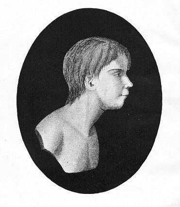 Portrét Viktora zAveyronu zknihy Jeana Marca Gasparda Itarda (1802)
